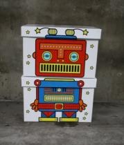 Villa-carton-boite-rangement-robot-coloriage