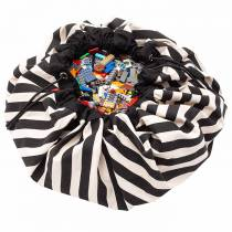 Sac rangement / Tapis - Rayures Noires - Play and Go