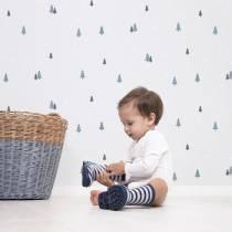 decoration-papier-peint-pour-chambre-enfant-sapins-bleus