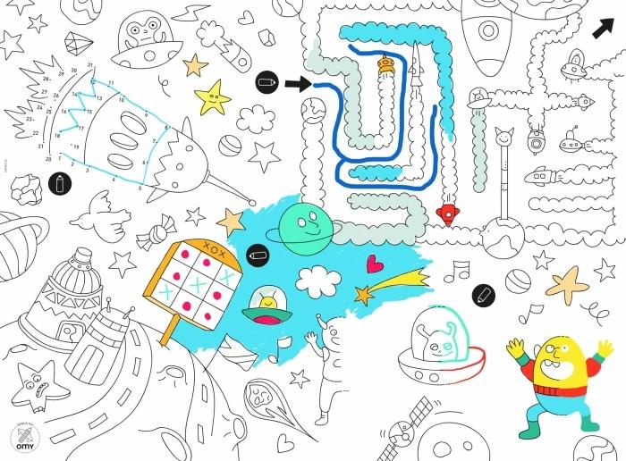 Bien-aimé Bloc de set de table à colorier et jeux DF67