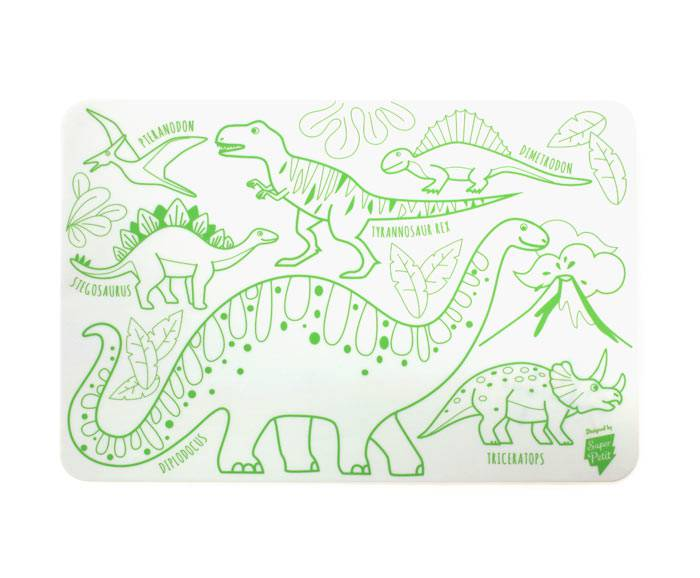 super-petit-mini-sous-main-colorier-silicone-dino