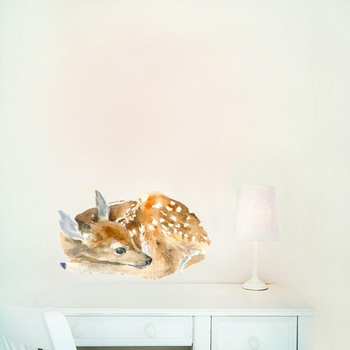 sticker-chambre-bebe-biche-endormie