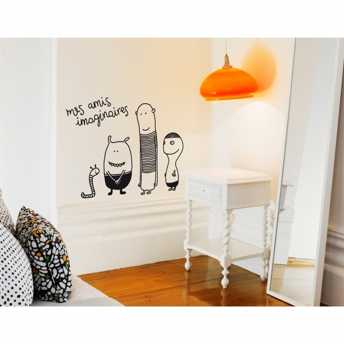 Sticker-mural-chambre-enfant-monstre-gentil