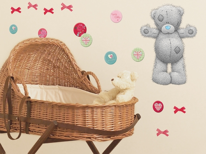 D co sticker grand oursons teddy for Deco ourson chambre bebe