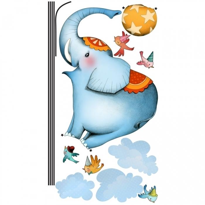 Elephant-funambule-sticler-theme-cirque