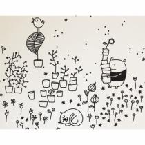 sticker-deco-chambre-enfant-noir-et-blanc