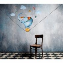 Sticker-chambre-enfant-cirque-elephant-funambule