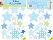 Sticker-mural-étoiles-bleues
