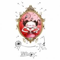 Jolie-grimace-encadree-sticker-enfant