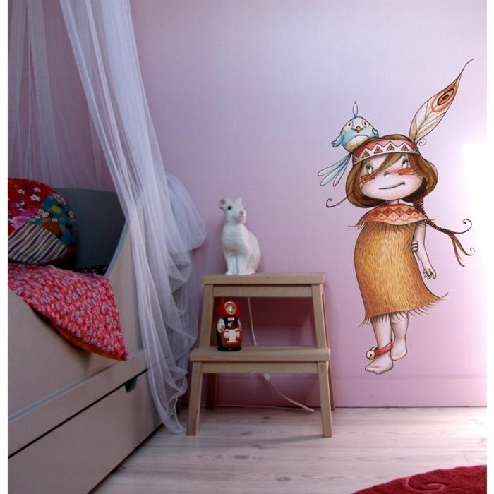 Sticker Petite Indienne Chambre D 39 Enfant