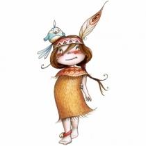 sticker-enfant-petite-lune-farouche-indienne-chambre-enfant