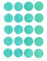 chocovenyl-sticker-turquoise-rond