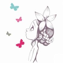 Sticker-chambre-fille-couleur-acte-deco