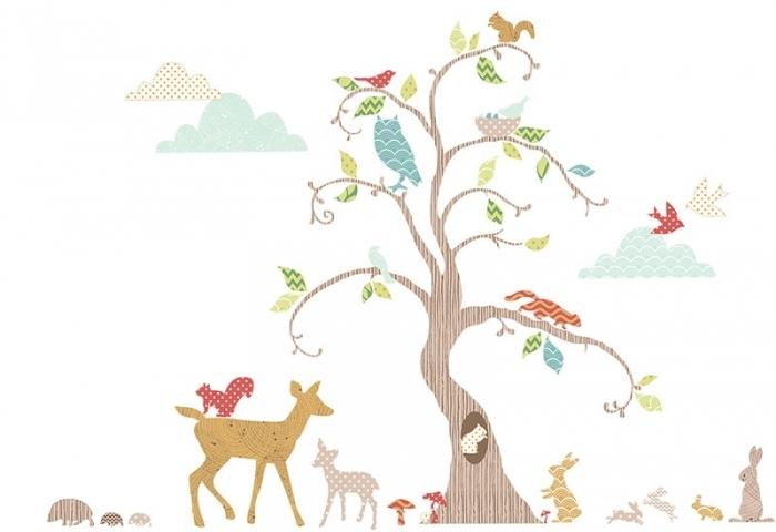 76 stickers pour décorer la chambre de bébé