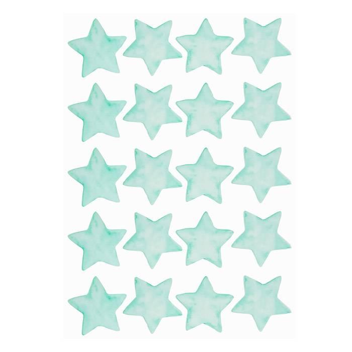 deco-enfant-stickers-etoiles-turquoises