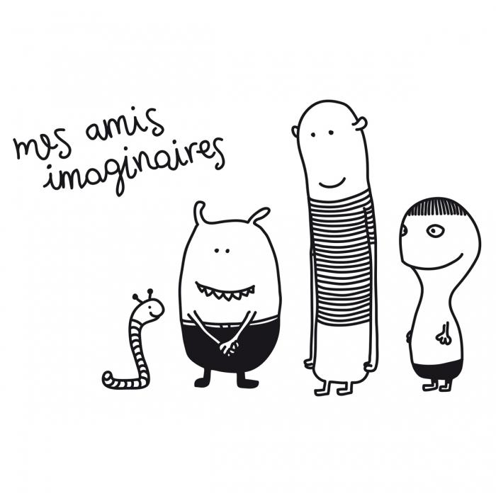 Sticker Amis Imaginaires - Bumoon