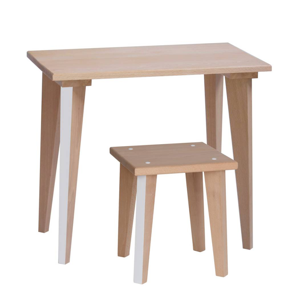 Table écolier Maternelle - Blanc loft