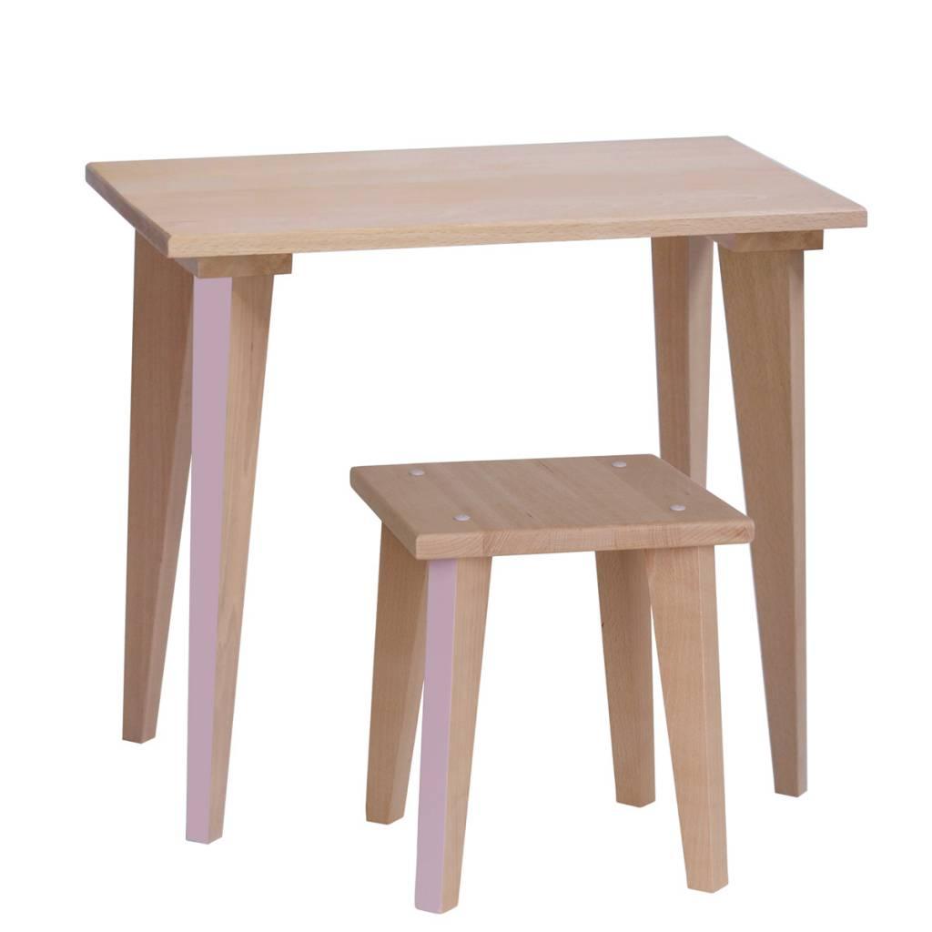 Table écolier Maternelle - Rose pâle