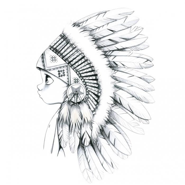 tableau toile acte deco noir blanc indien