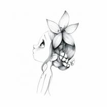 Tableau-toile-deco-chambre-enfant-wild-girl-gris