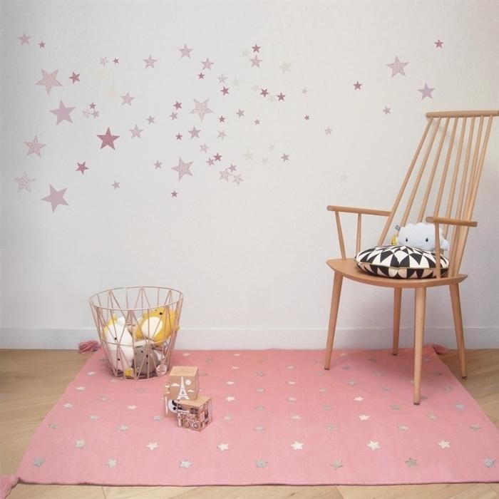 Tapis-deco-design-rose-etoiles