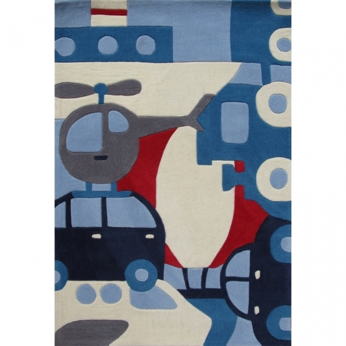 tapis enfant th me moyens de transport