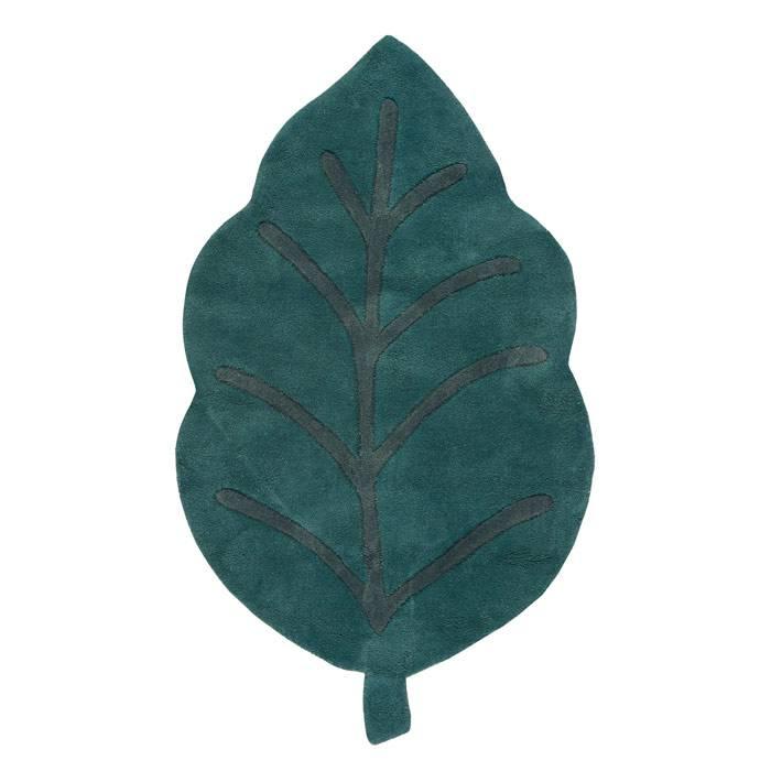 Tapis coton Feuille - 150 x 90 cm