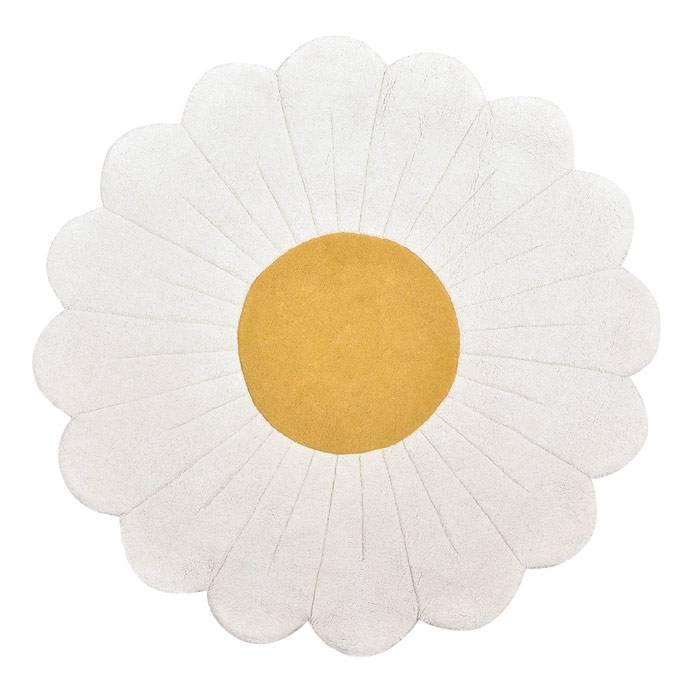 Tapis coton Fleur de camomille - 100 cm