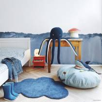 Tapis coton Nuage bleu marine