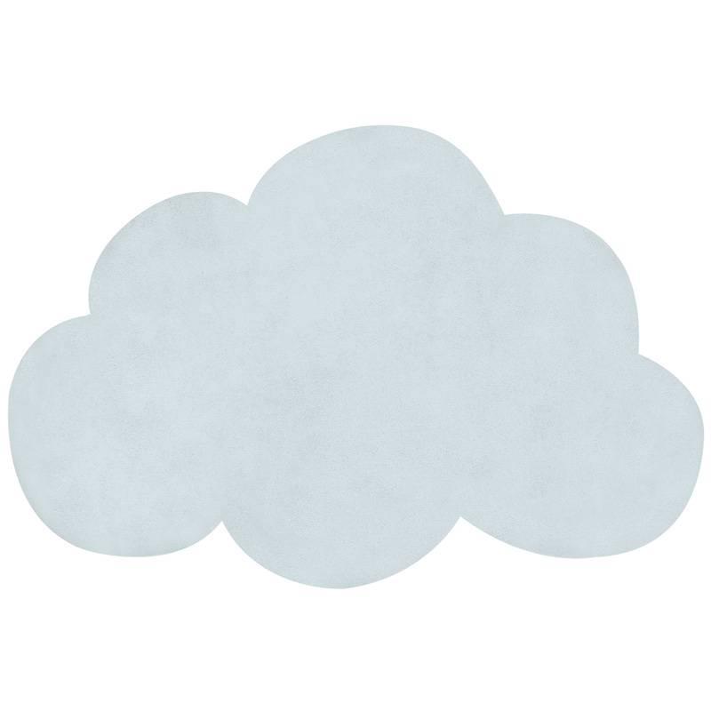 Tapis coton Nuage bleu