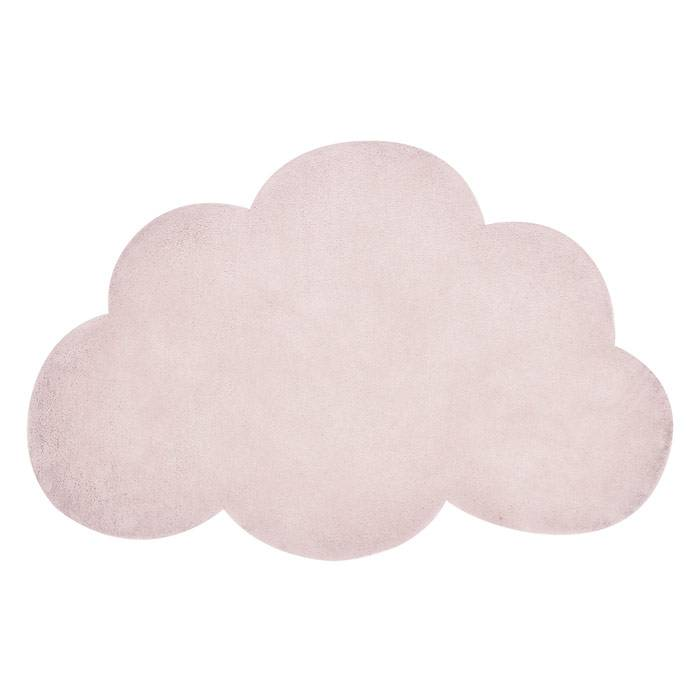 Tapis coton Nuage rose poudré