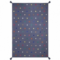 tapis-coton-broderies-cuir-etoiles-multicolores