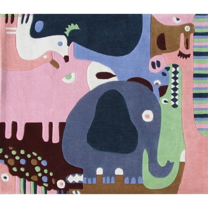 Tapis enfant animaux de la jungle for Tapis de chambre enfant