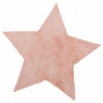 Tapis-fourrure-etoile-rose