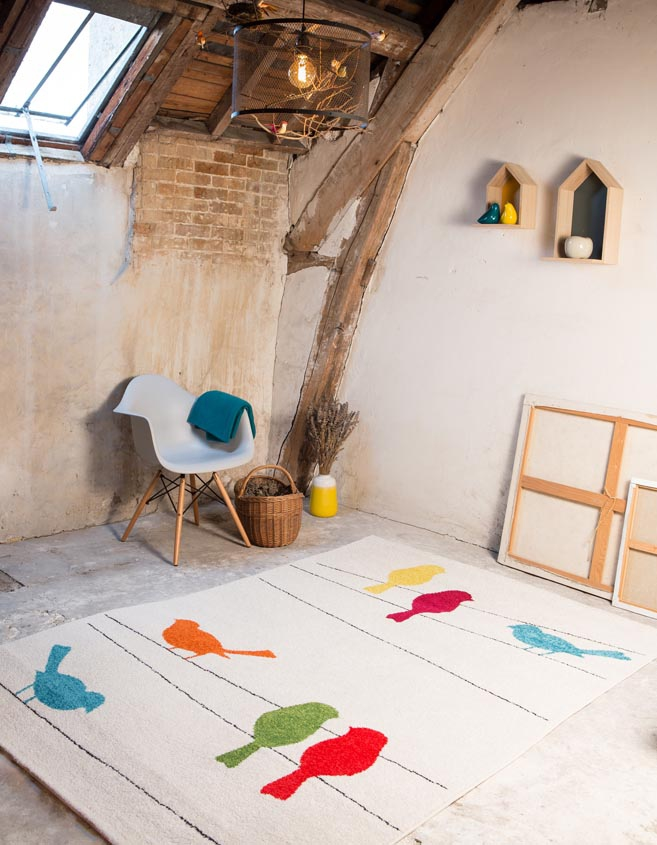 Tapis-tweet-colour-oiseaux
