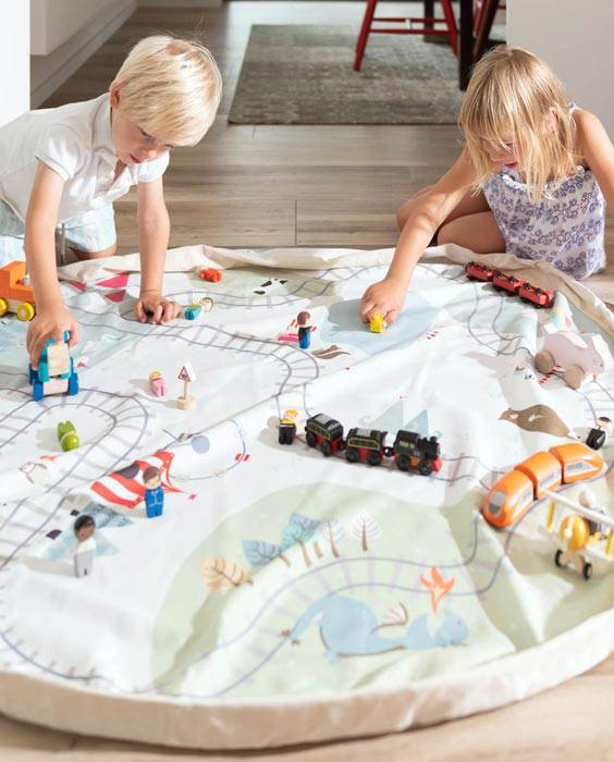 tapis-sac-jouets-playandgo-train