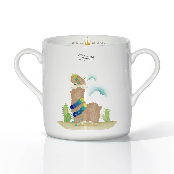 tasse-porcelaine-design-lama-marron