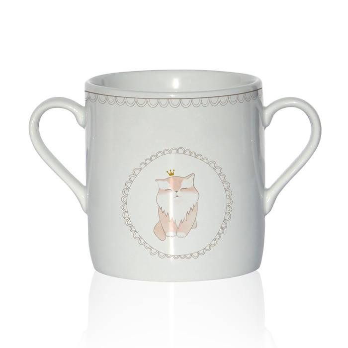 Tasse Porcelaine de Limoges - Chat