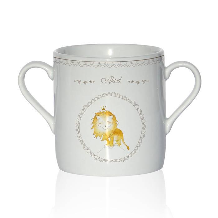 Tasse Porcelaine de Limoges - Lion
