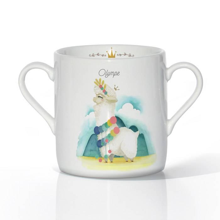 tasse-porcelaine-illustration-lama-blanc