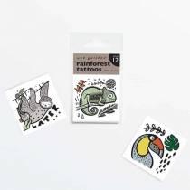 Tatouage - Animaux tropicaux - Lot de 12