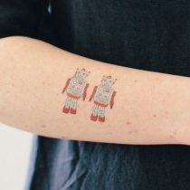 tatouage-ephemere-robot