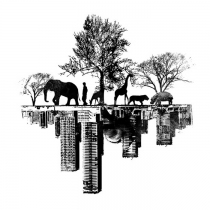 Tatouage-ville-nature-noir-et-blanc