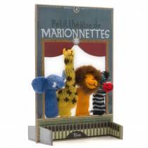 theatre-jeu-carton-marionnettes-laine-animaux-de-la-jungle