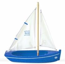 Barque-32-cm-jouet-bois-tirot-bleue