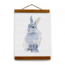 Toile-canvas-hanger-lapin-gris
