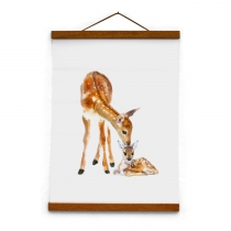 Toile-canvas-biche-faon