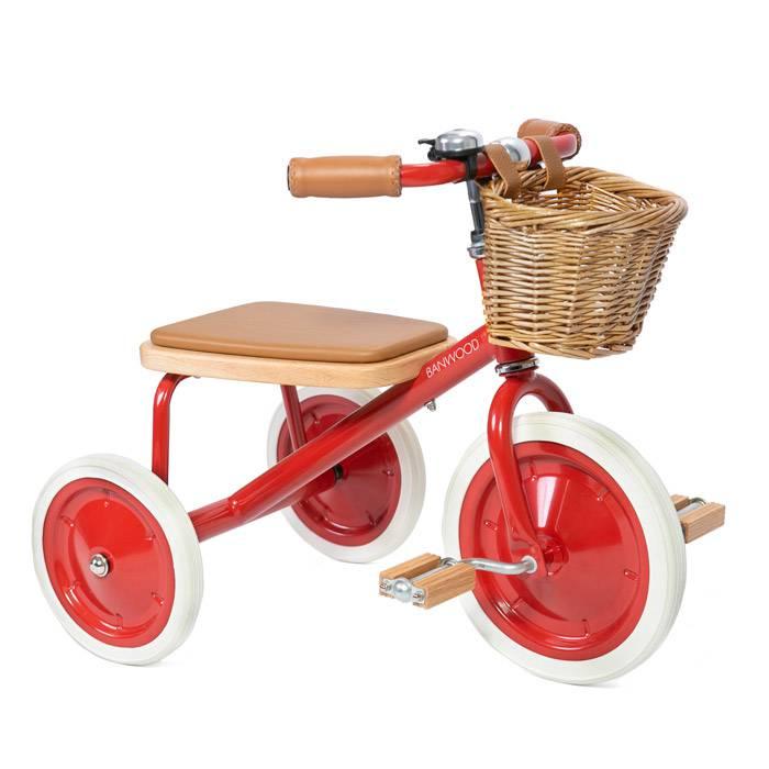 tricycle-vintage-rouge-de-qualité