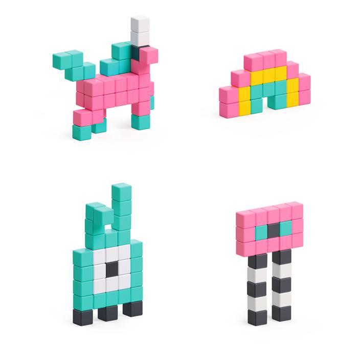 jeu-construction-pixio-licorne-monstre-fantastique