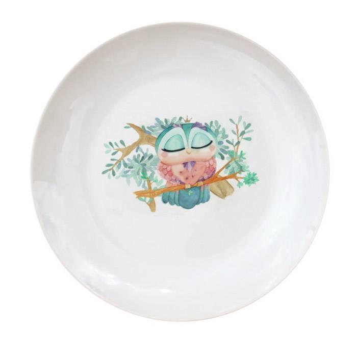 vaisselle-enfant-assiette-porcelaine-chouette